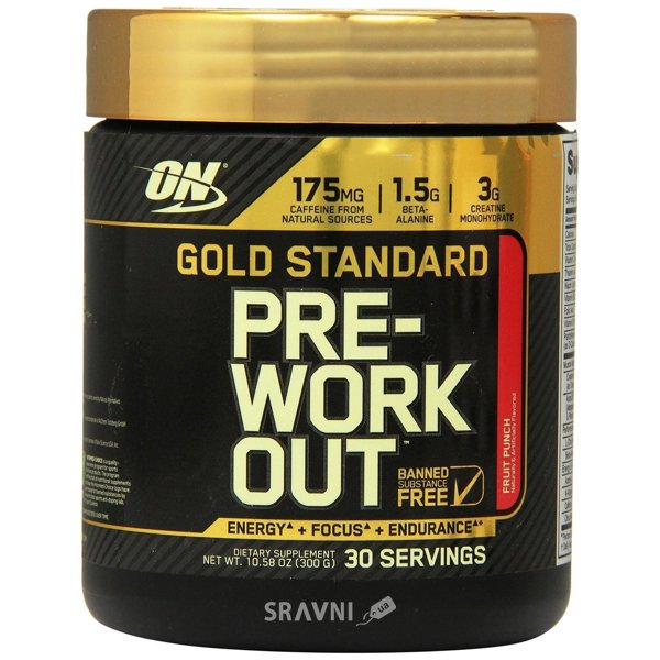 Фото Optimum Nutrition Gold Standard Pre-Workout 300 g (30 servings)