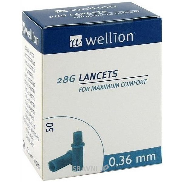 Фото Wellion Lancets 28G 50 шт