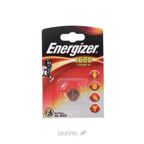 Фото Energizer CR-1620 bat(3B) Lithium 1шт