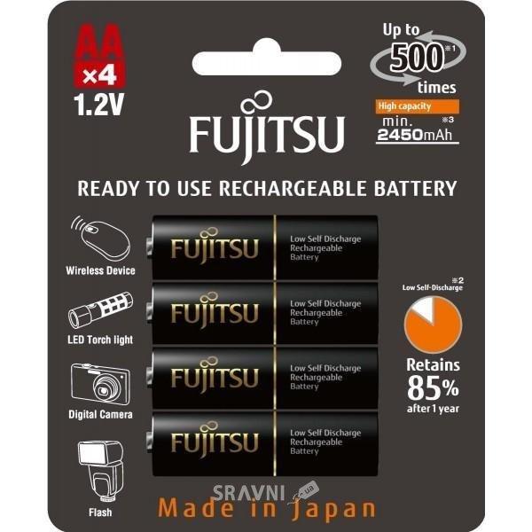 Фото Fujitsu AA 2450mAh NiMh 4шт HR-3UTGX
