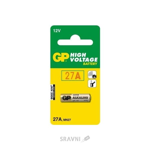 Фото GP Batteries A27 bat(12В) Alkaline 1шт (27A)