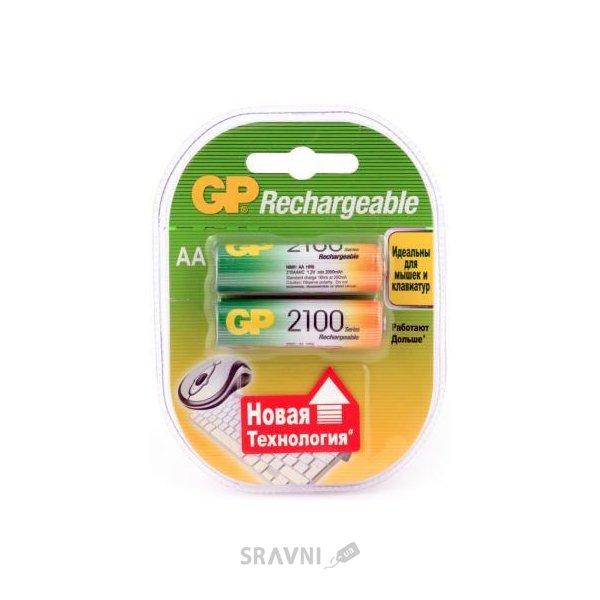Фото GP Batteries AA 2100mAh NiMh 2шт (210AAHC)