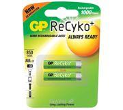 Фото GP Batteries AAA 850mAh NiMh 2шт ReCyko+ (85AAAHCB)