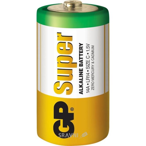Фото GP Batteries C bat Alkaline 2шт Super (14A)