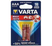 Фото Varta AAA bat Alkaline 2шт MAX TECH (04703101412)