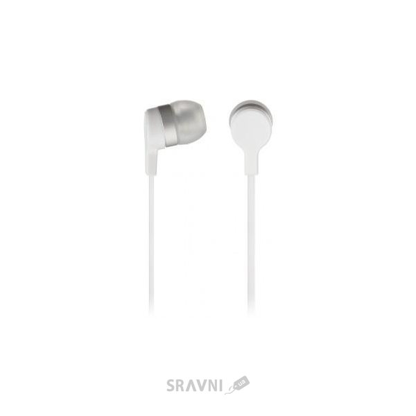 Фото KitSound Entry Mini In-Ear Headphones with Mic White (KSMINIWH)