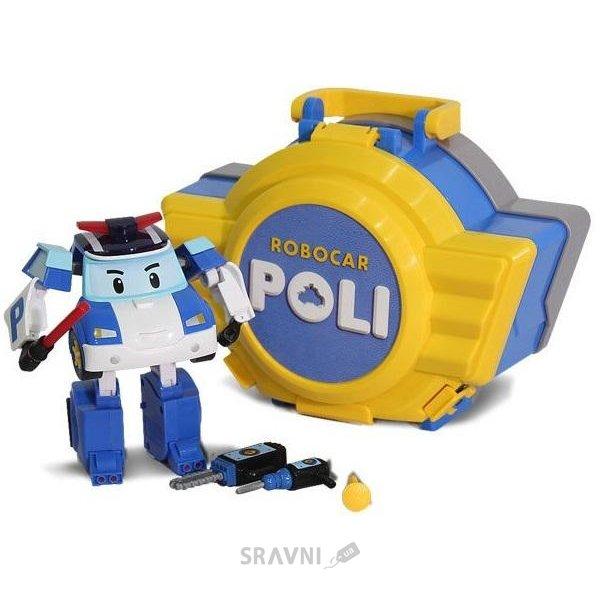 Фото Silverlit Robocar Poli Кейс-трансформер Поли с гаражом  (83072)