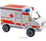 Фото Мир деревянных игрушек Машинка скорая помощь (Д304)
