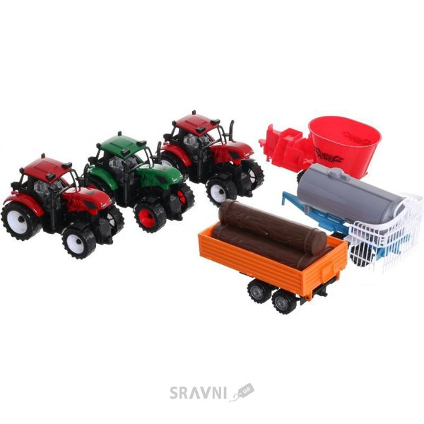 Фото Шантоу Три трактора с прицепами (JY58034)