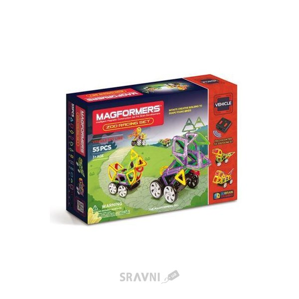 Фото Magformers Vehicle Zoo Racing set 63142