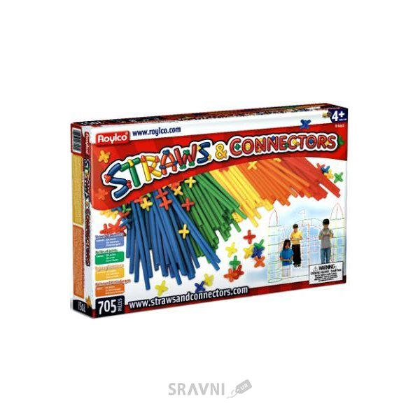 Фото Roylco Straws and Connectors R6090 705 деталей
