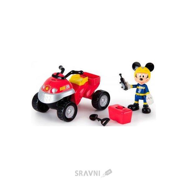 Фото IMC Toys Набор фигурок Minnie & Mickey Mouse Clubhouse Спасатели Квадроцикл Микки 7 см (181915)