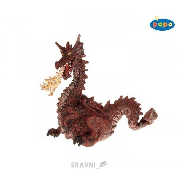 Фото PAPO Красный дракон с пламенем 39016