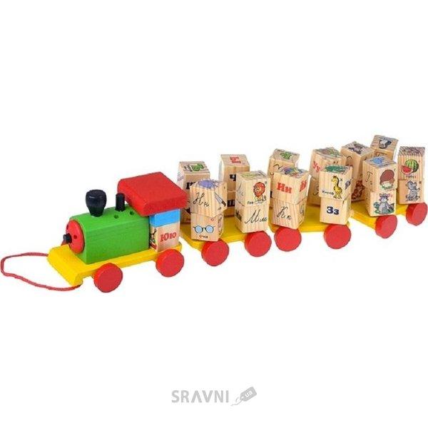 Фото Мир деревянных игрушек Паровозик с алфавитом (Д222)