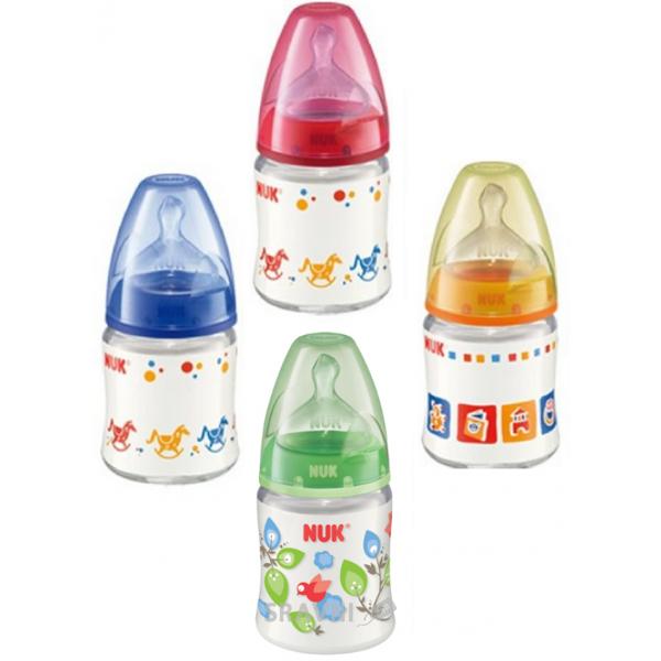 Фото Nuk Бутылочка пластиковая New Class First Choice с соской из силикона, 1р. (10743578)