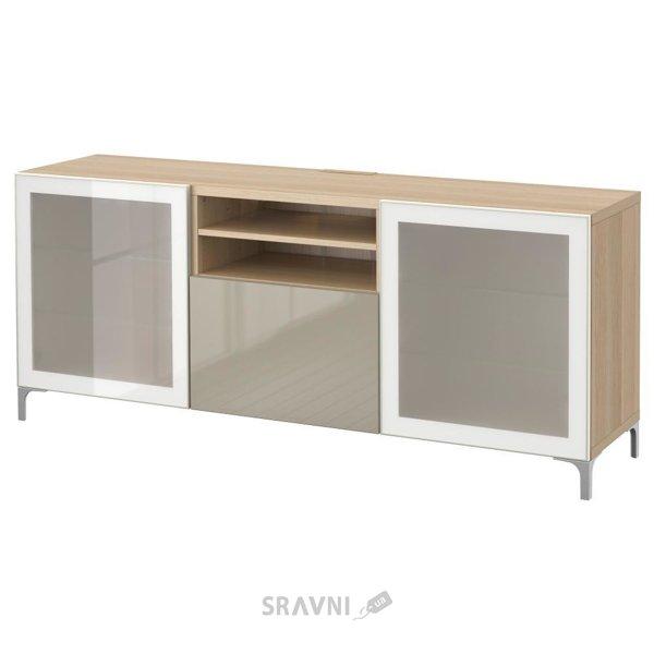 Фото IKEA BESTA Скамья ТВ с выдвижными ящиками (890.836.24)