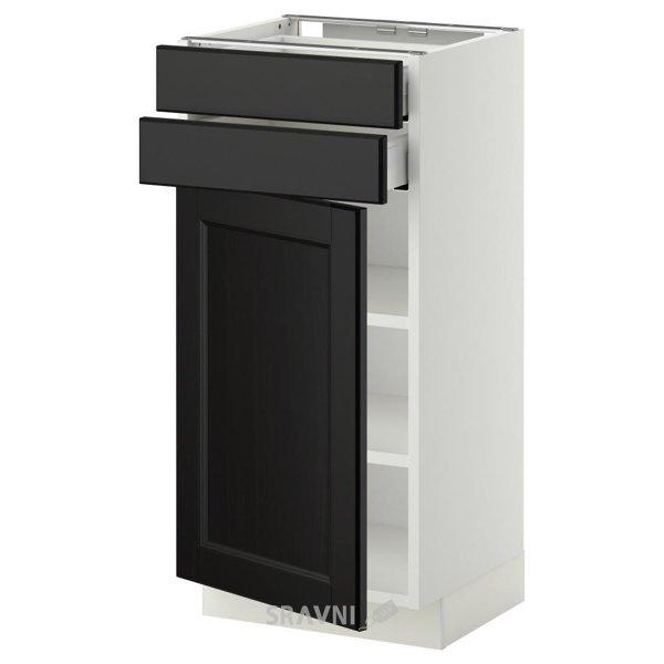Фото IKEA METOD/MAXIMERA Напольный шкаф 2 ящика+1 дверь (990.260.20)