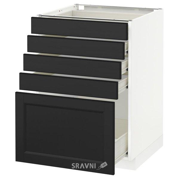 Фото IKEA METOD/FORVARA Напольный шкаф с 5 ящиками, белый 60x60 (190.503.06)