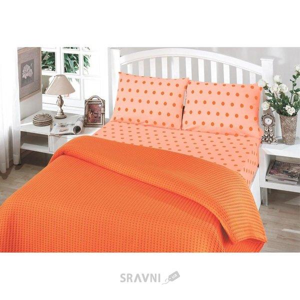 Фото Perlay Пике Oranj двуспальный Евро оранжевый (010081116)