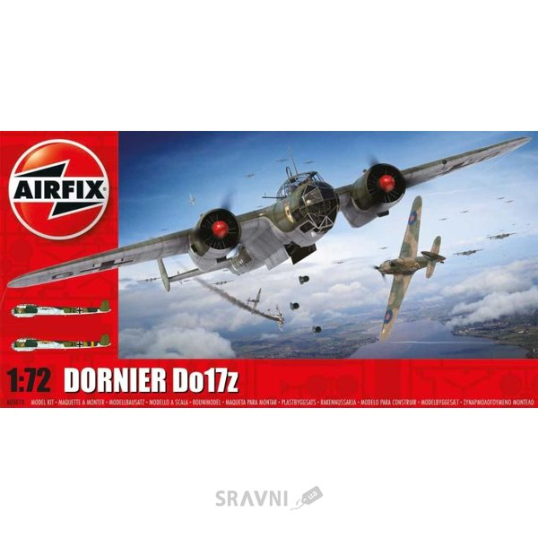 Фото Airfix Бомбардировщик Dornier Do17Z (AIR05010)