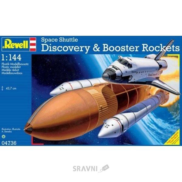 Фото Revell Спейс шаттл Discovery & Booster Rockets (RV04736)