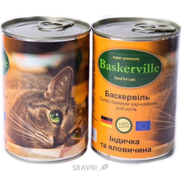 Фото Baskerville с индейкой и говядиной 400 гр