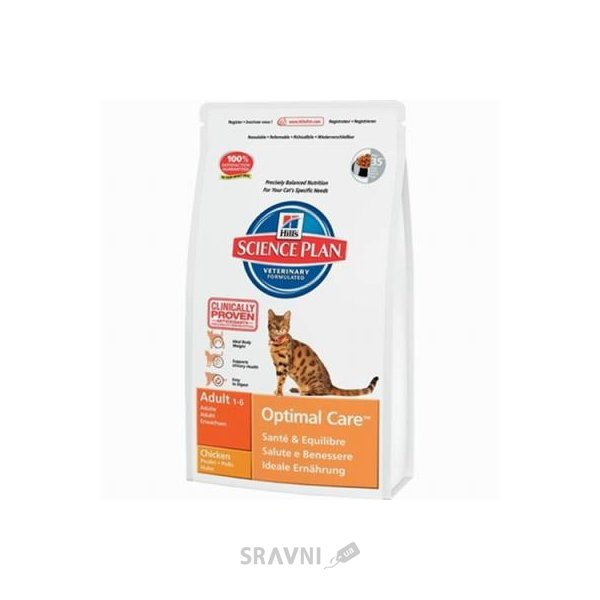 Фото Hill's Science Plan Feline Adult Optimal Care with Chicken 2 кг