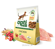 Фото OptiMeal Для взрослых кошек Курица 0,3 кг