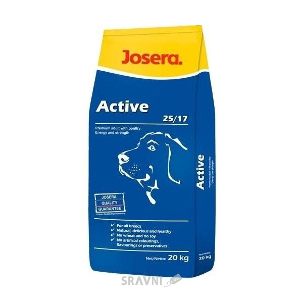 Фото Josera Active 25/17 20 кг