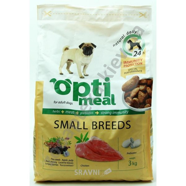 Фото OptiMeal Adult Small Breeds Chicken 12 кг