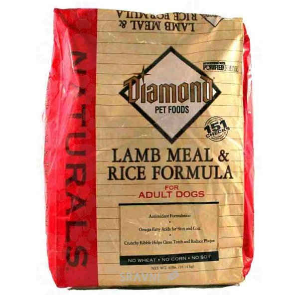 Фото Diamond Naturals Lamb Meal and Rice Adult Dog Formula 18,14 кг