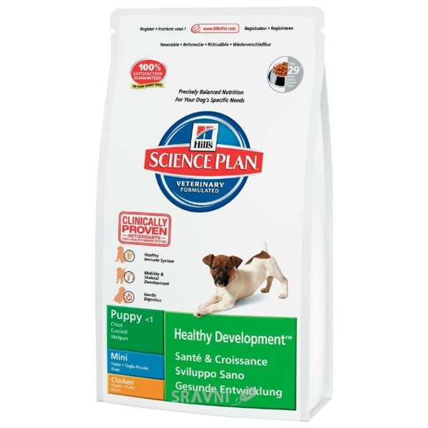 Фото Hill's Science Plan Puppy Healthy Development Mini Курица 1 кг