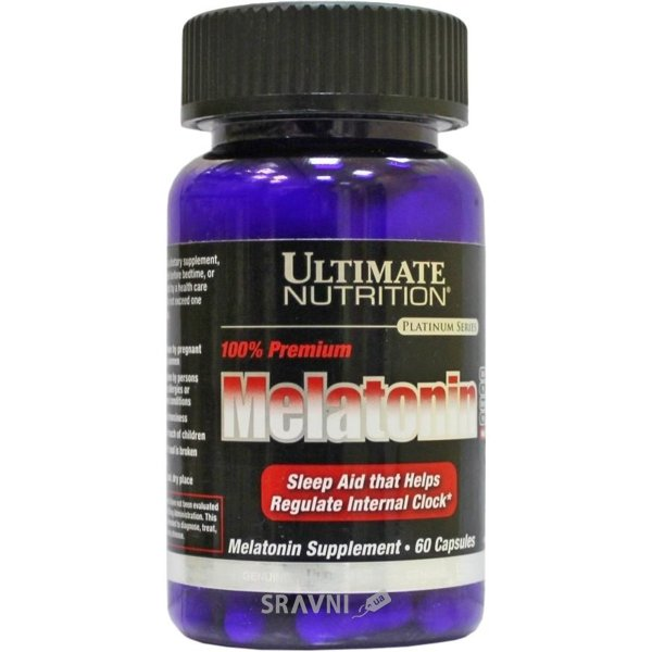 Фото Ultimate Nutrition Melatonin 60 caps