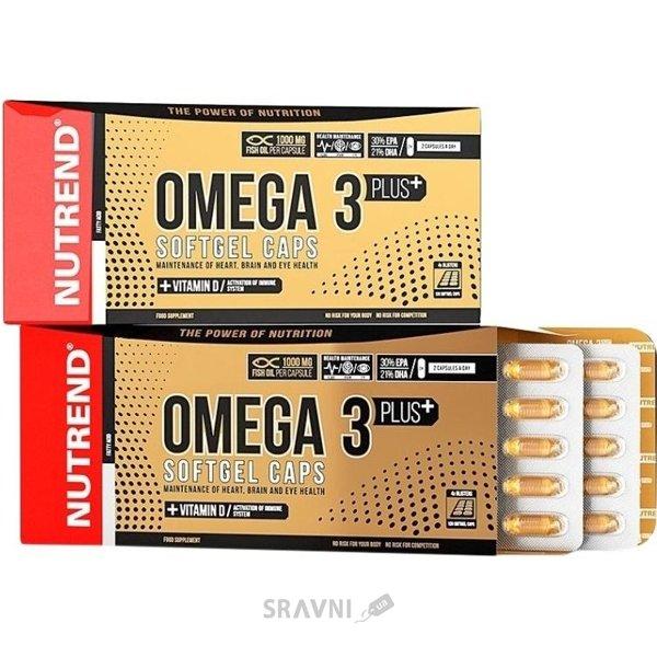Фото Nutrend Omega 3 Plus Softgel Caps 120 caps
