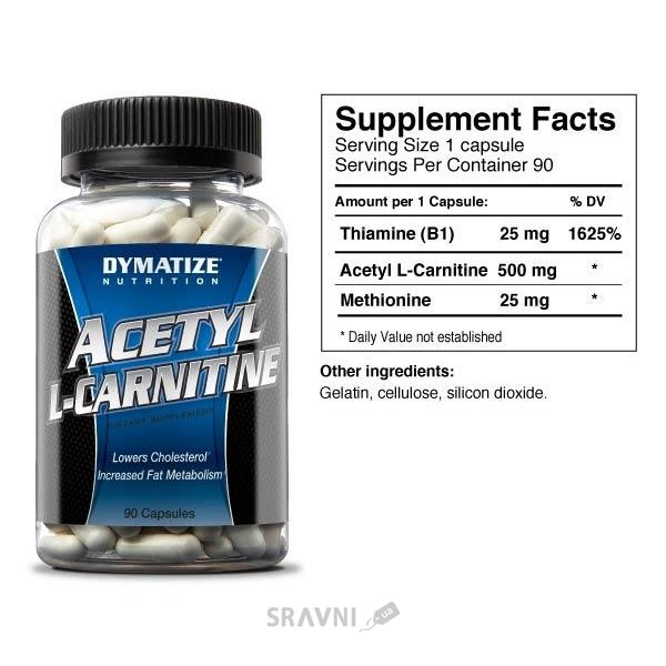 Фото Dymatize Acetyl L-carnitine 90 caps