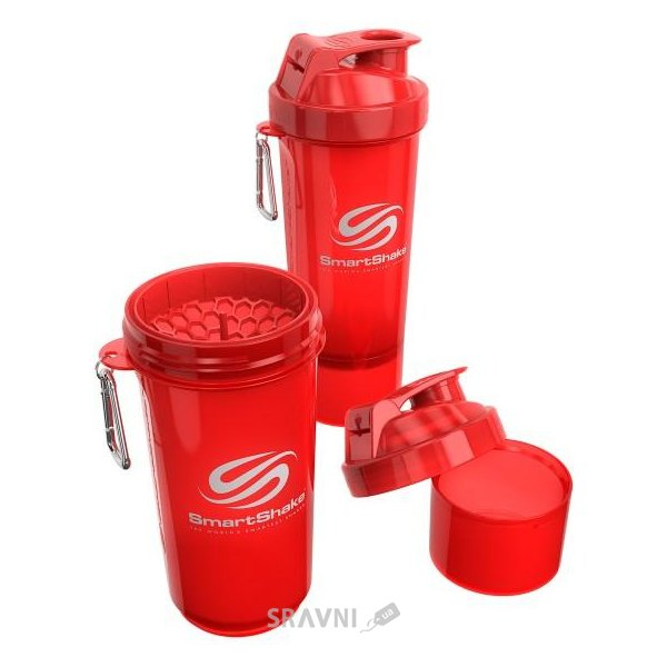 Фото SmartShake Slim neon red 500 ml (17 oz)
