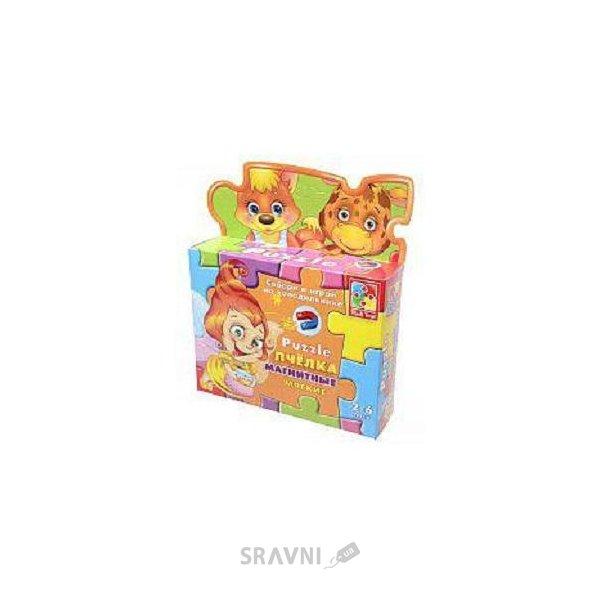 Фото Vladi Toys Магнитные фигурные пазлы Пчёлка (VT1504-14)