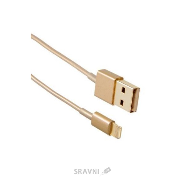 Фото Drobak USB 2.0 AM – Lightning 1.0м Gold (215341)