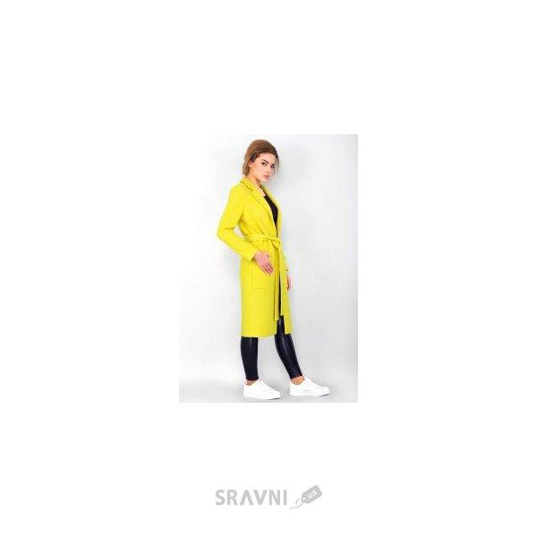 Фото Женское пальто желтое 2-70002