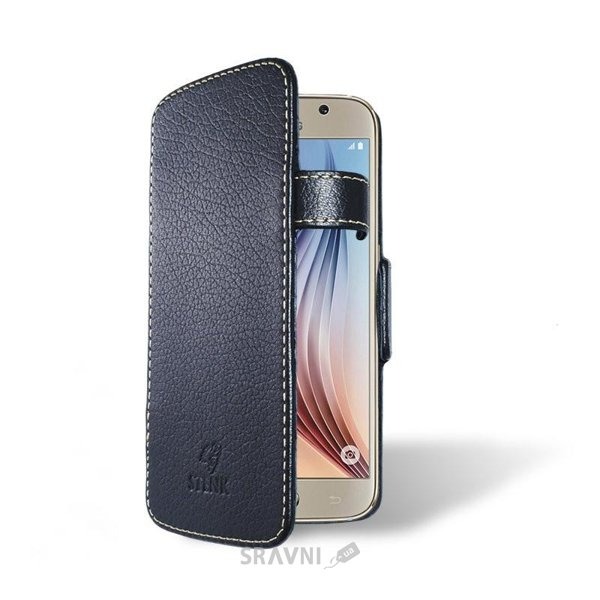 Фото Stenk Чехол-книжка Handy для Samsung Galaxy S6 SM-G920F Черная