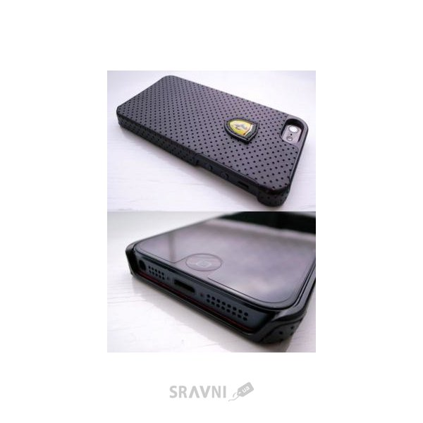 Фото CG Mobile Ferrari Hard Case Challenge Perforated Collection for iPhone 5/5s Black (FECHFPHCP5)