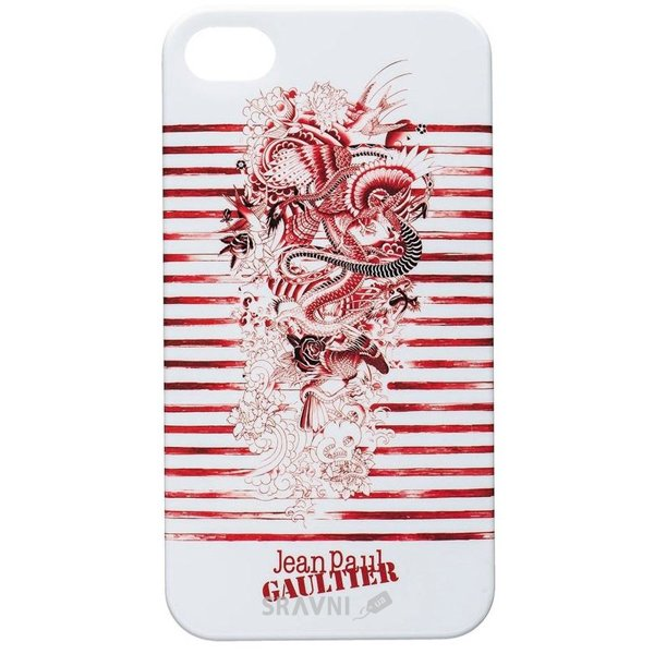 Фото Jean Paul Gaultier Tatoo Mariniere для iPhone 5/5S blanc/rouge (JPGTATOOCOVIP5R)