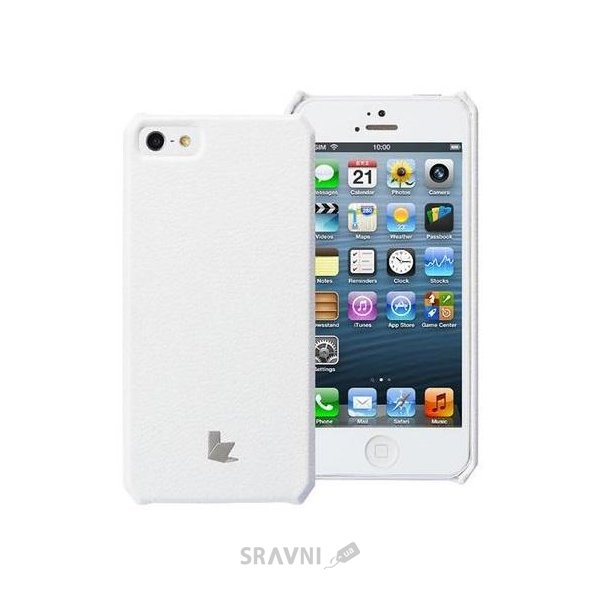 Фото JisonCase Microfiber wallet cover case for iPhone 5/5S white (JS-IP5-01H00)