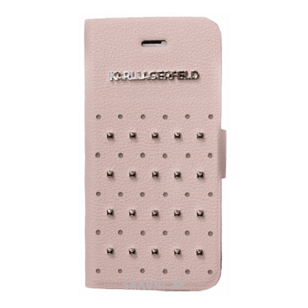 Фото Karl Lagerfeld Trendy with Studs для iPhone 5/5S Pink (KLFLBKP5TRSP)