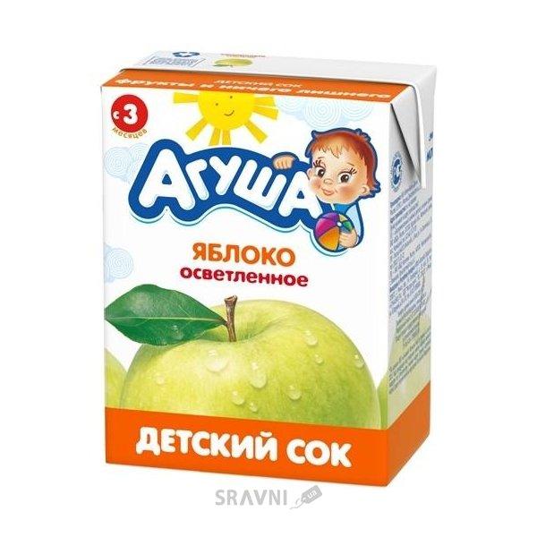 Фото Агуша Сок Яблоко осветленный с 3 мес. 200 мл