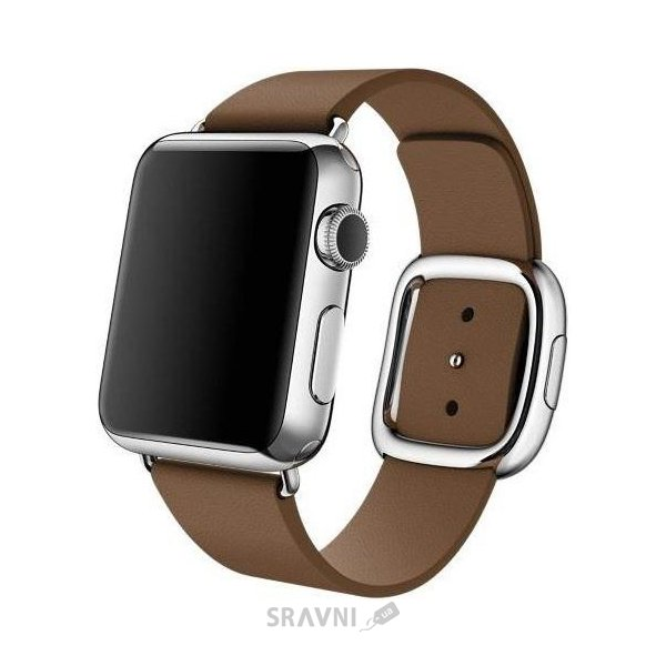 Фото Apple Watch 38mm Stainless Steel Case with Brown Modern Buckle (MJ3D2)