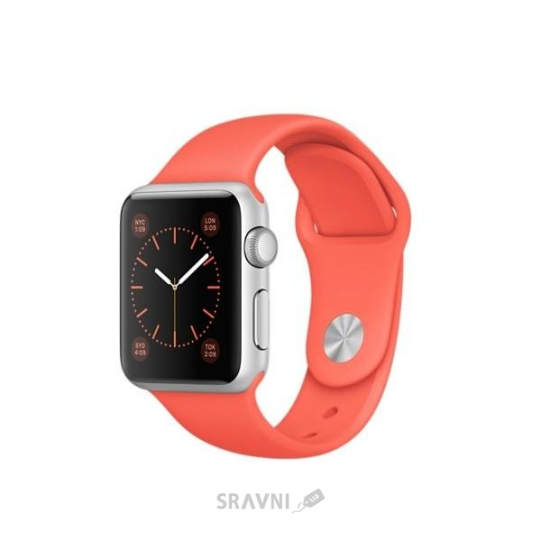 Фото Apple Watch Sport 38mm Silver Aluminum Case with Apricot Sport Band (MMF12)