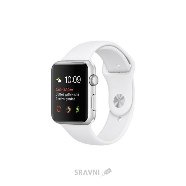 Фото Apple Watch Series 1 42mm Silver Aluminum Case with White Sport Band (MNNL2)
