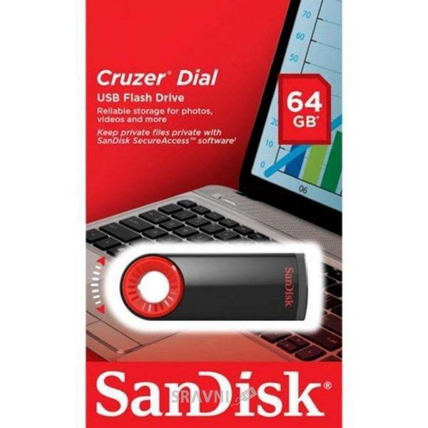 Фото SanDisk 64 GB USB Cruzer Dial SDCZ57-064G-B35