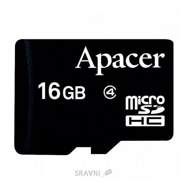 Фото Apacer microSDHC 16Gb Class 4